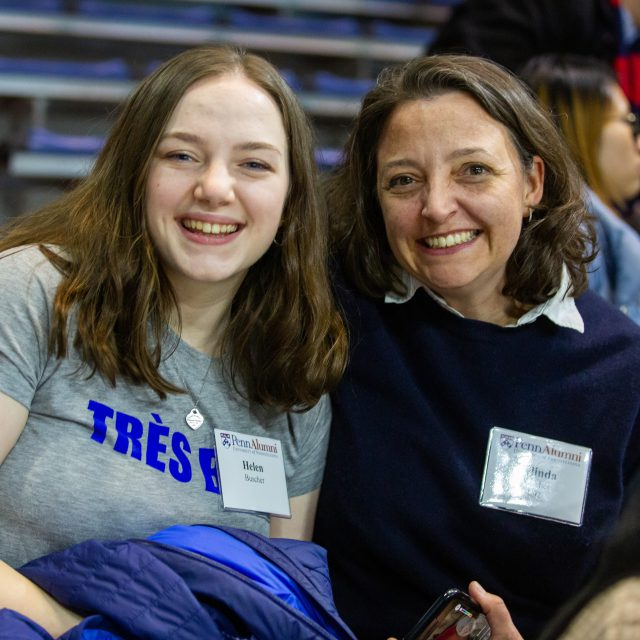 Photo of Belinda Buscher, C'92, and her daughter
